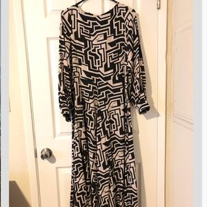 H&M Richard Allen Circle-skirt Maxi Dress